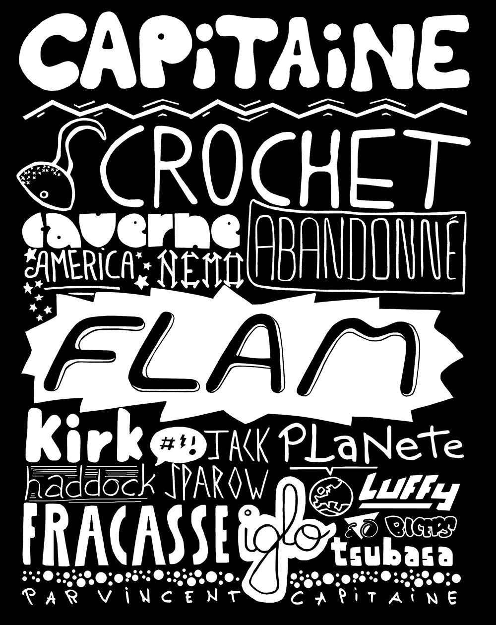 Typographie Capitaine