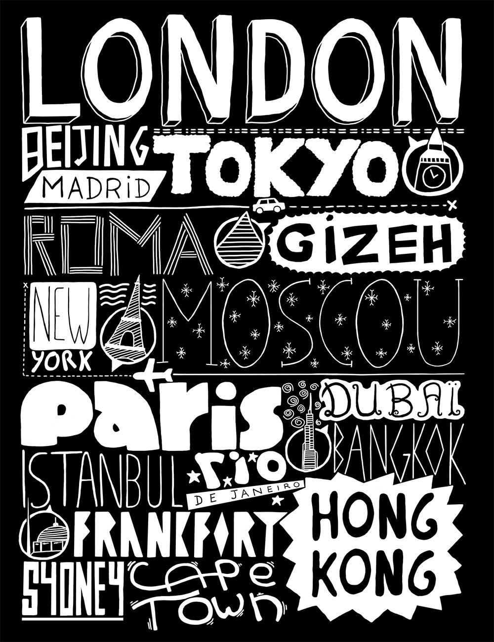 Typographie villes