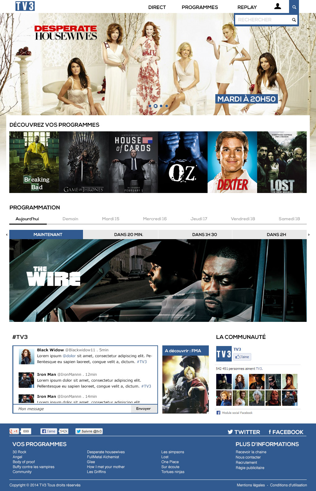 TV3 : Home Page