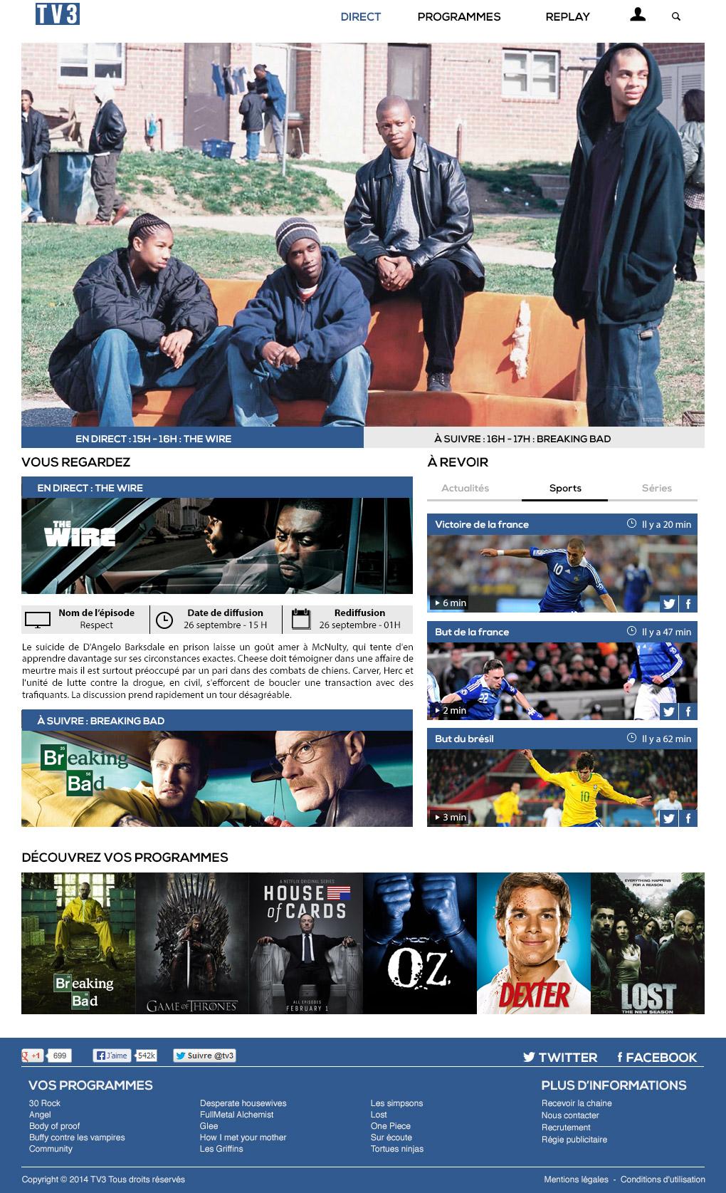 TV3 : Direct